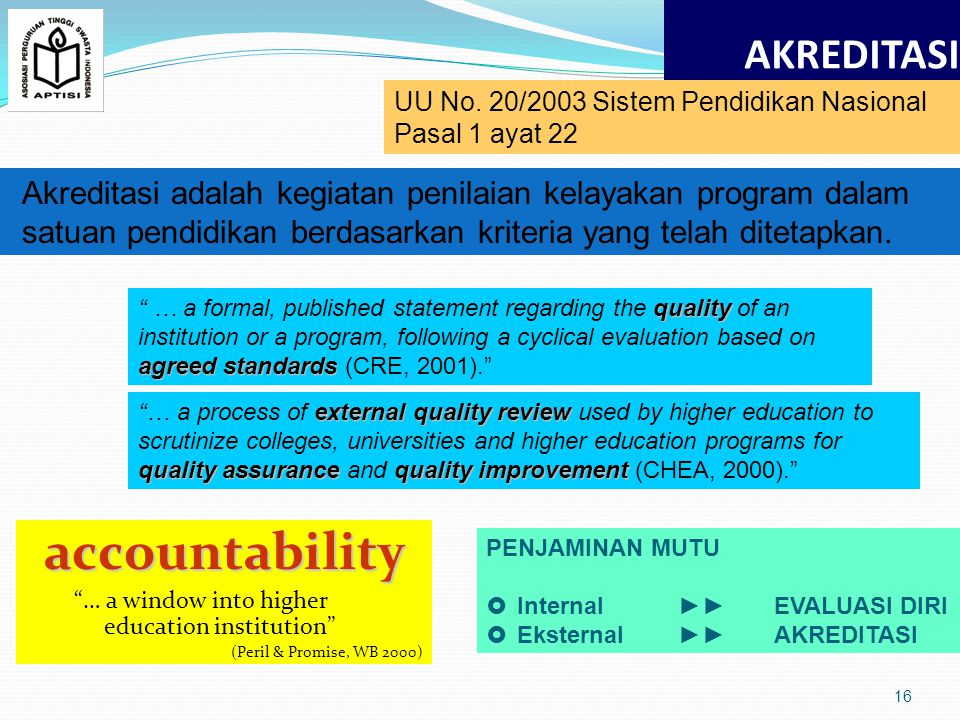 accountability AKREDITASI