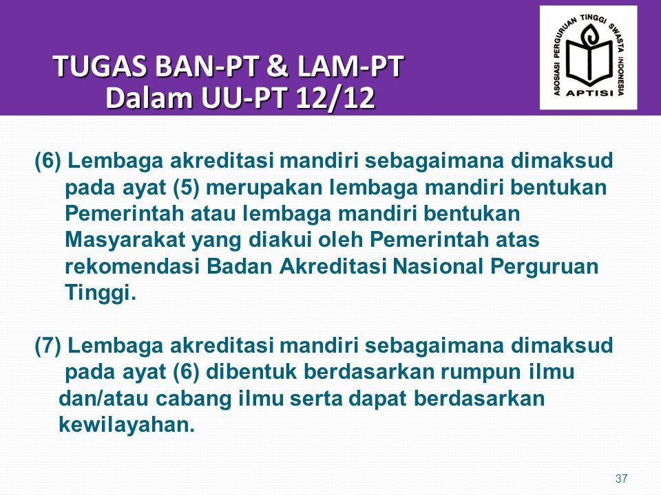 TUGAS BAN-PT & LAM-PT Dalam UU-PT 12/12