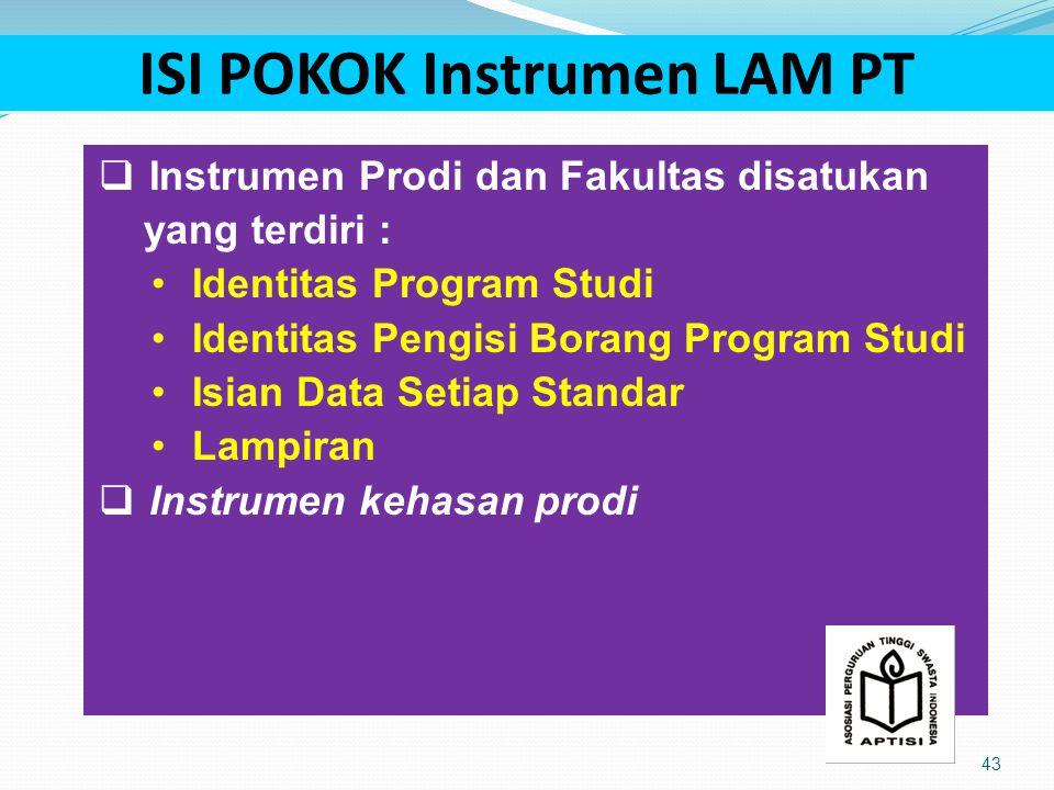 ISI POKOK Instrumen LAM PT