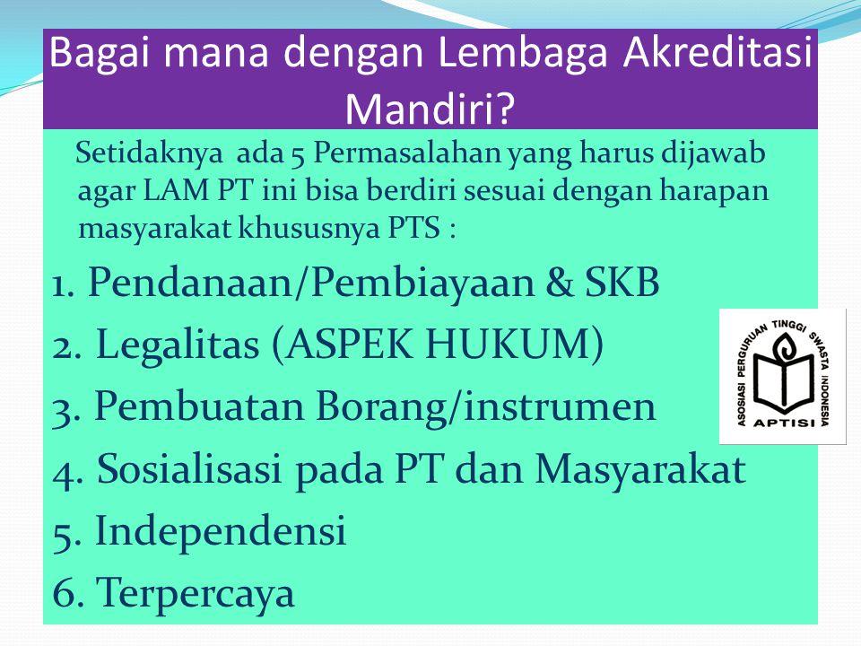 Bagai mana dengan Lembaga Akreditasi Mandiri