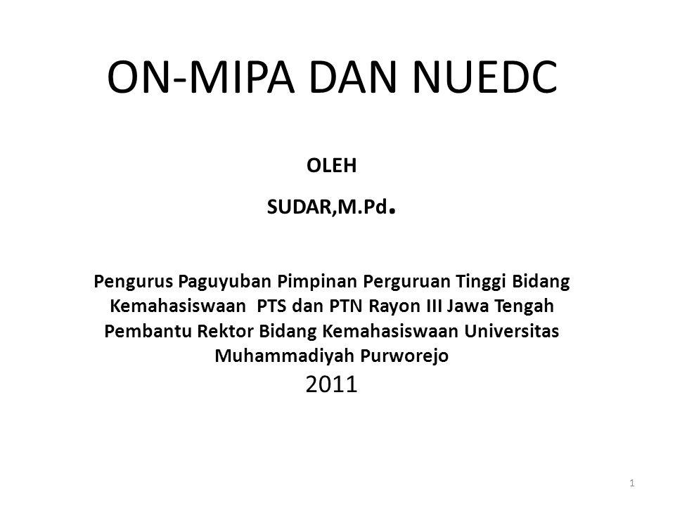 ON-MIPA DAN NUEDC OLEH SUDAR,M. Pd