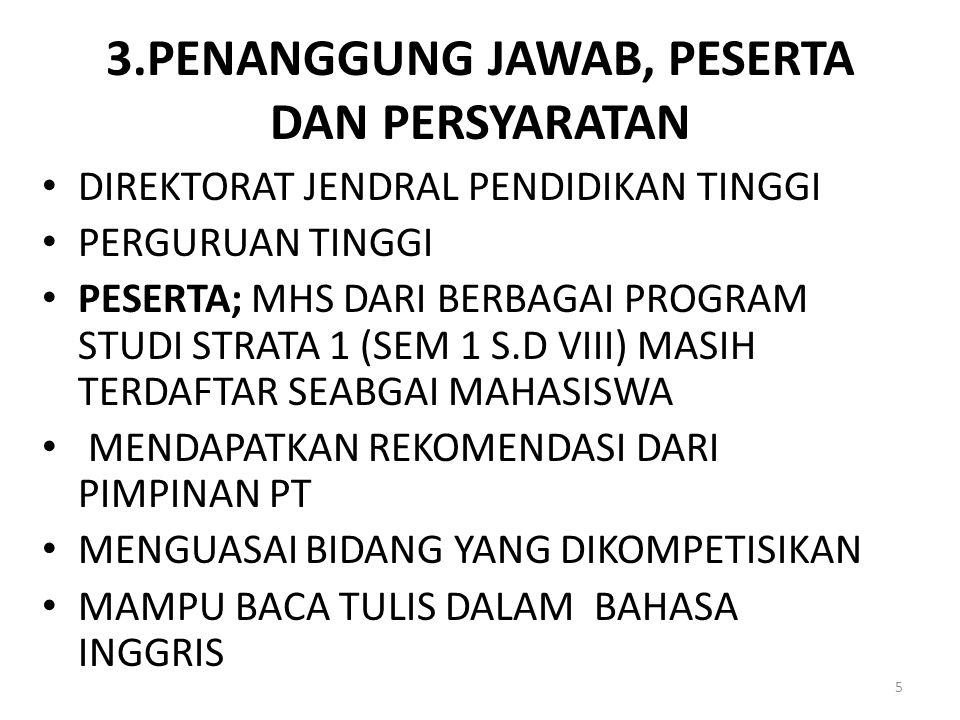 3.PENANGGUNG JAWAB, PESERTA DAN PERSYARATAN