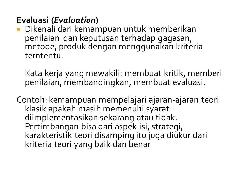 Evaluasi (Evaluation)