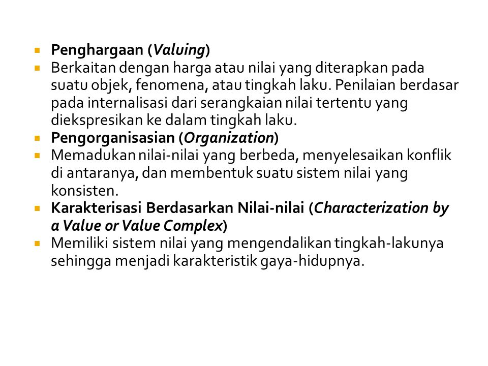 Penghargaan (Valuing)