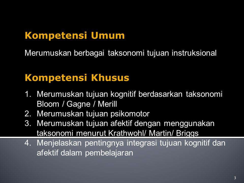 Kompetensi Umum Kompetensi Khusus