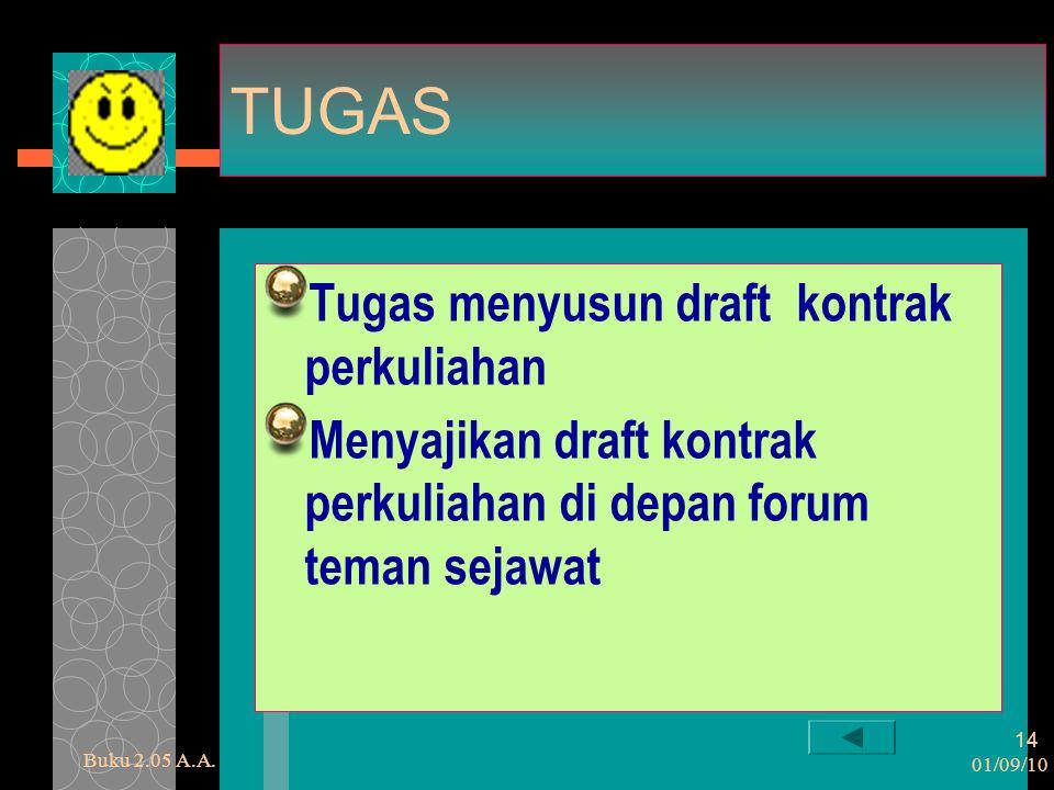 TUGAS Tugas menyusun draft kontrak perkuliahan