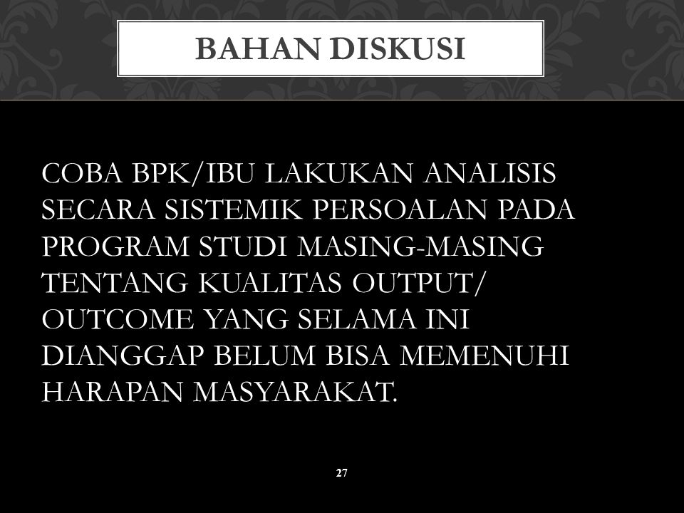BAHAN DISKUSI