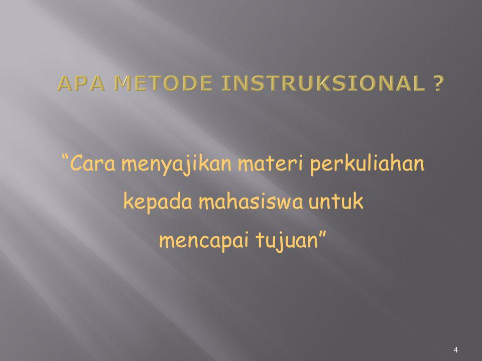 Apa Metode Instruksional