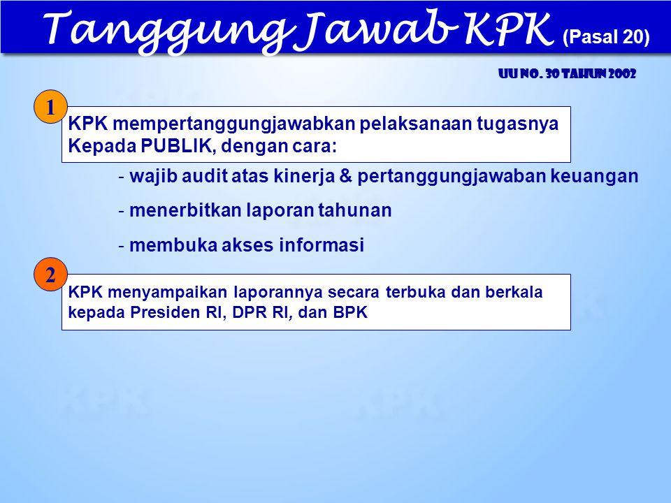 Tanggung Jawab KPK (Pasal 20)