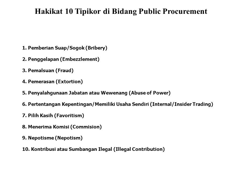 Hakikat 10 Tipikor di Bidang Public Procurement
