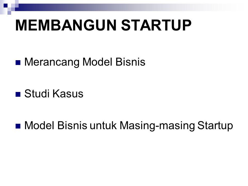 MEMBANGUN STARTUP Merancang Model Bisnis Studi Kasus