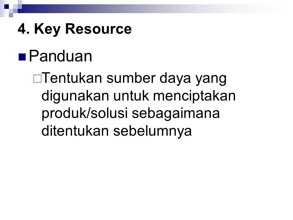 4. Key Resource Panduan.
