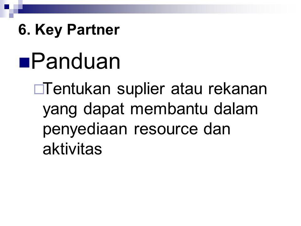 6. Key Partner Panduan.