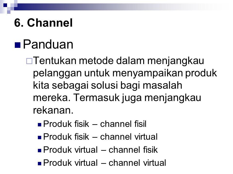 6. Channel Panduan.