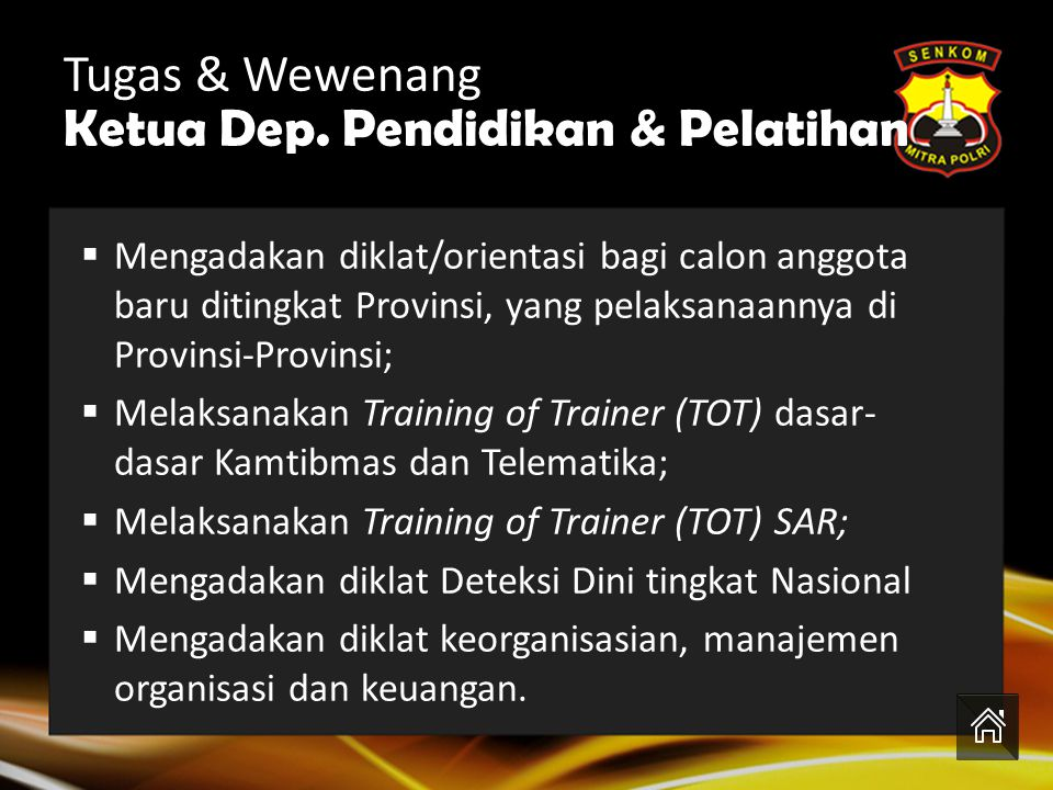 Ketua Dep. Pendidikan & Pelatihan