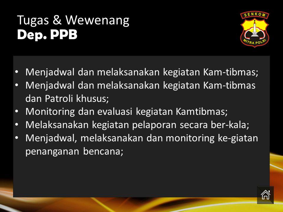 Tugas & Wewenang Dep. PPB
