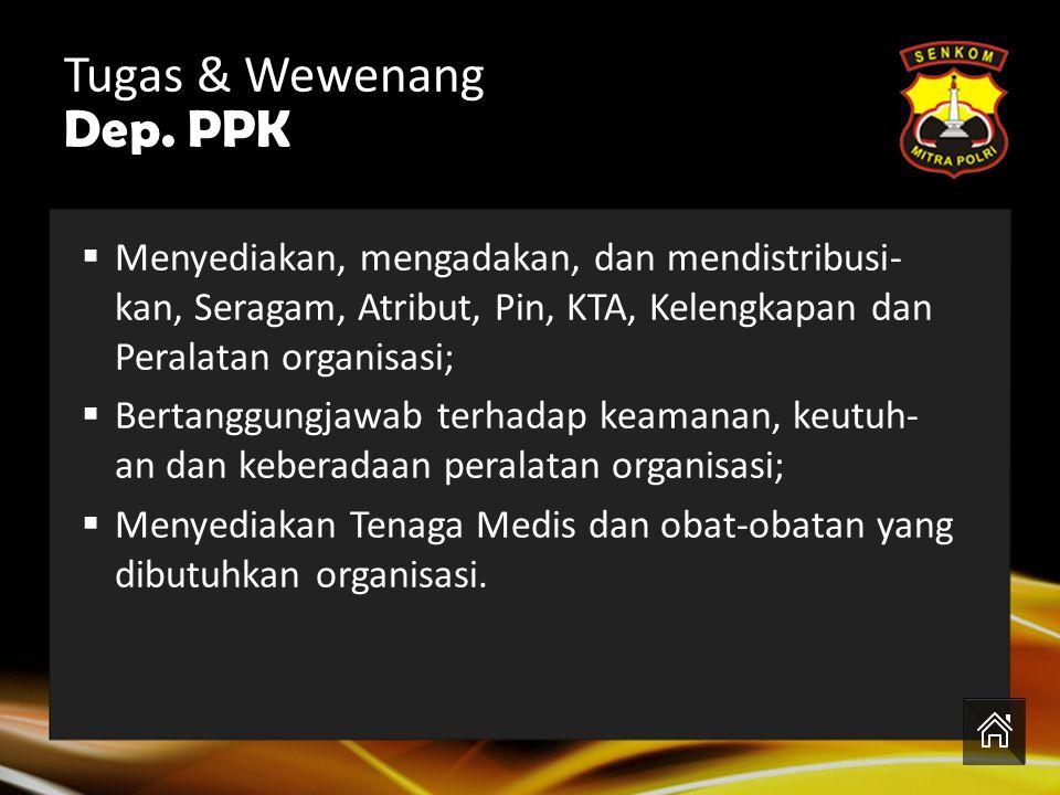 Tugas & Wewenang Dep. PPK