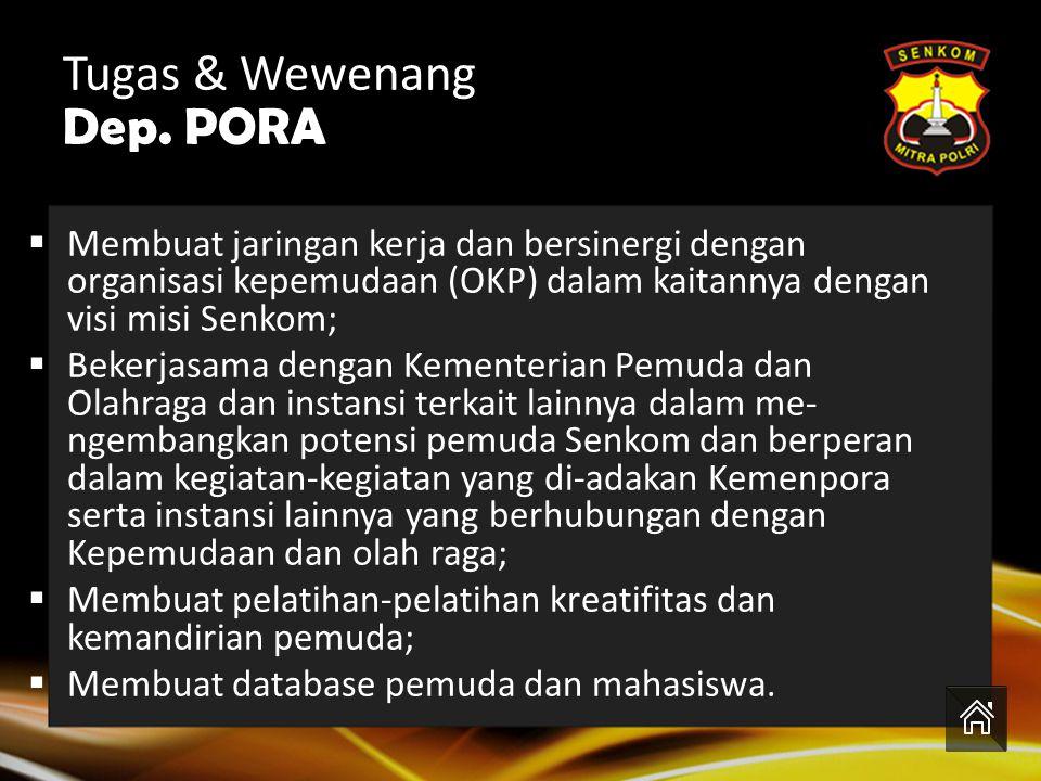 Tugas & Wewenang Dep. PORA