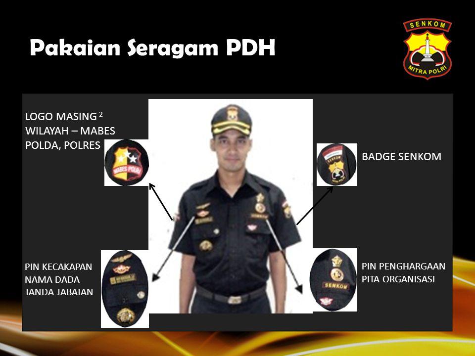 Pakaian Seragam PDH LOGO MASING 2 WILAYAH – MABES POLDA, POLRES