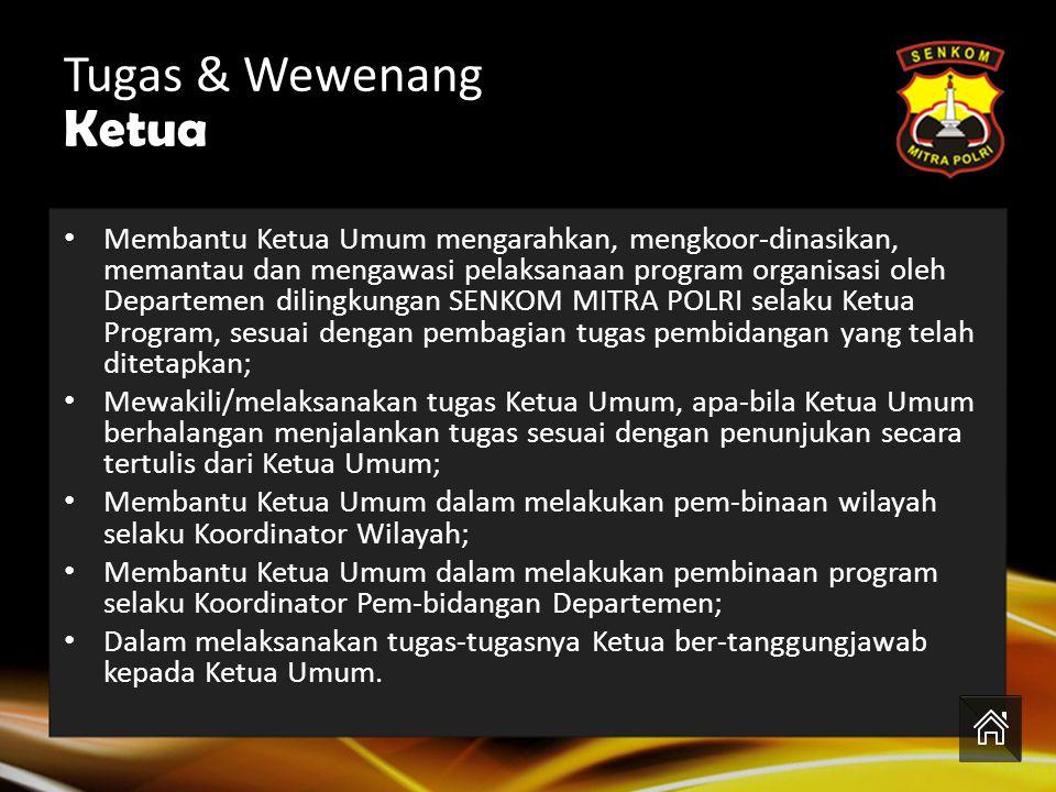 Tugas & Wewenang Ketua.