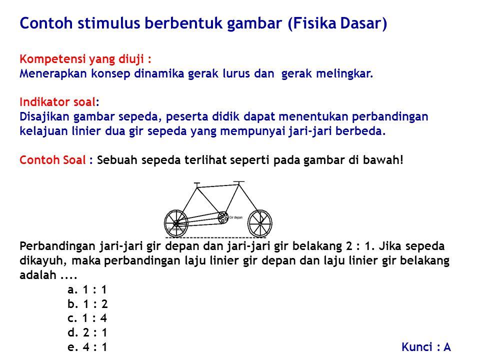 Contoh stimulus berbentuk gambar (Fisika Dasar)