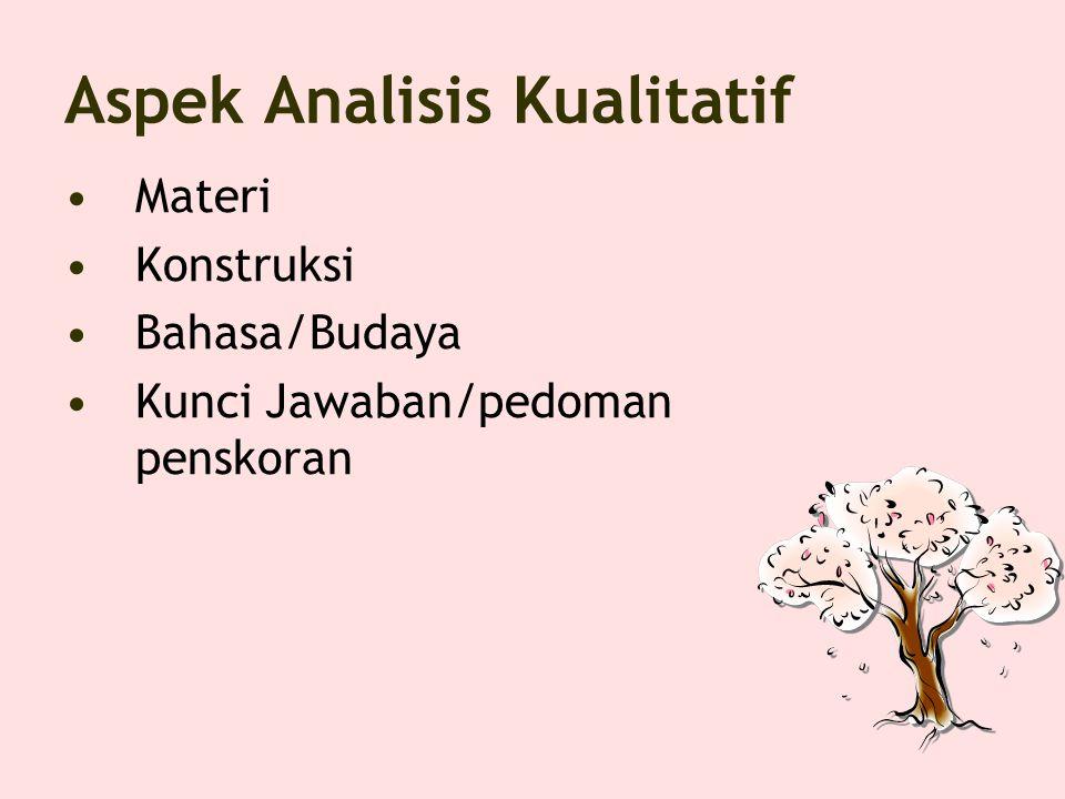 Aspek Analisis Kualitatif