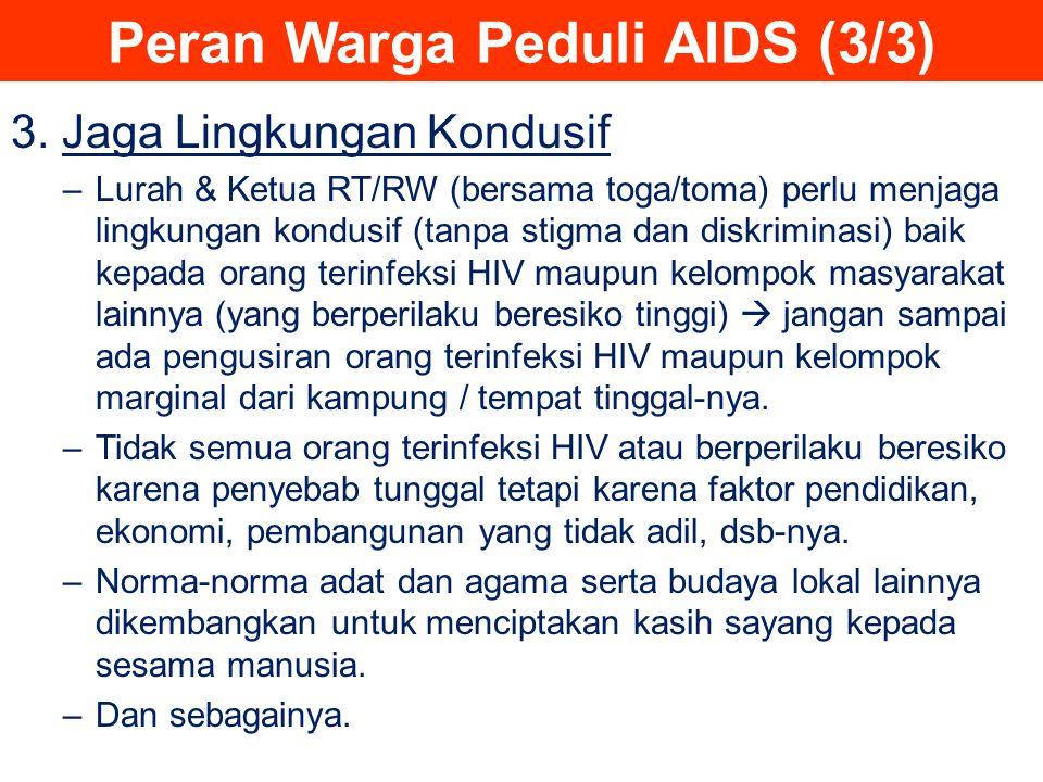 Peran Warga Peduli AIDS (3/3)