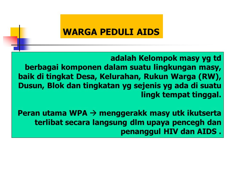WARGA PEDULI AIDS