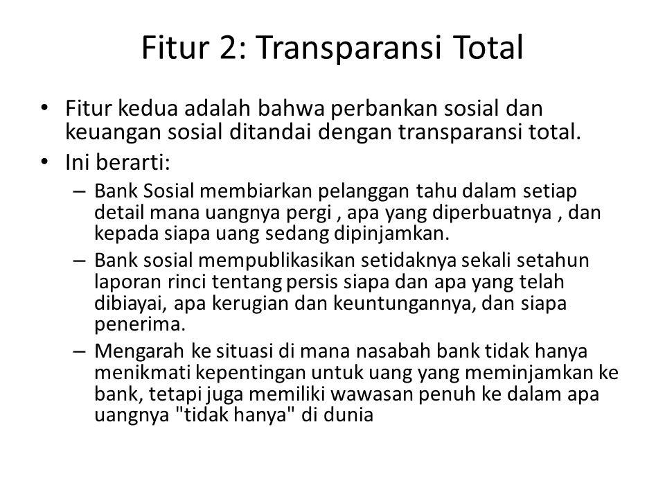 Fitur 2: Transparansi Total