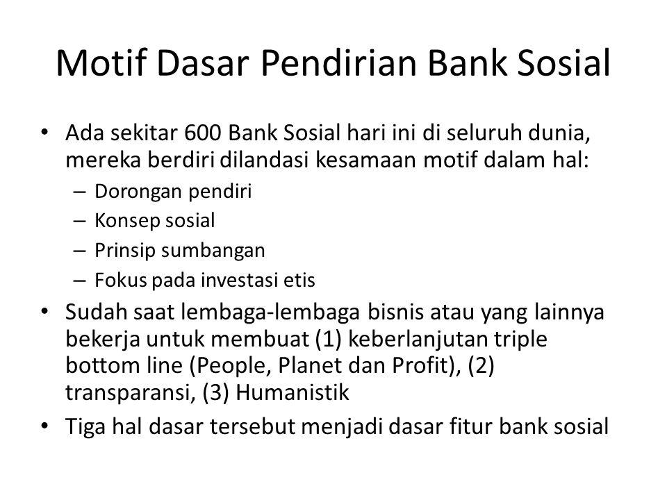 Motif Dasar Pendirian Bank Sosial
