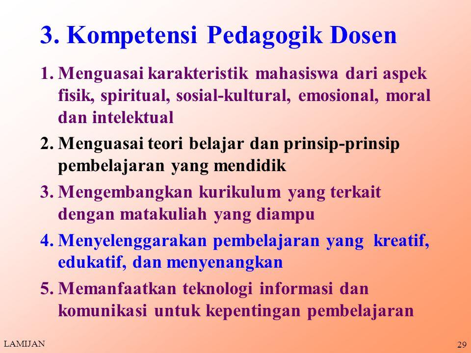3. Kompetensi Pedagogik Dosen