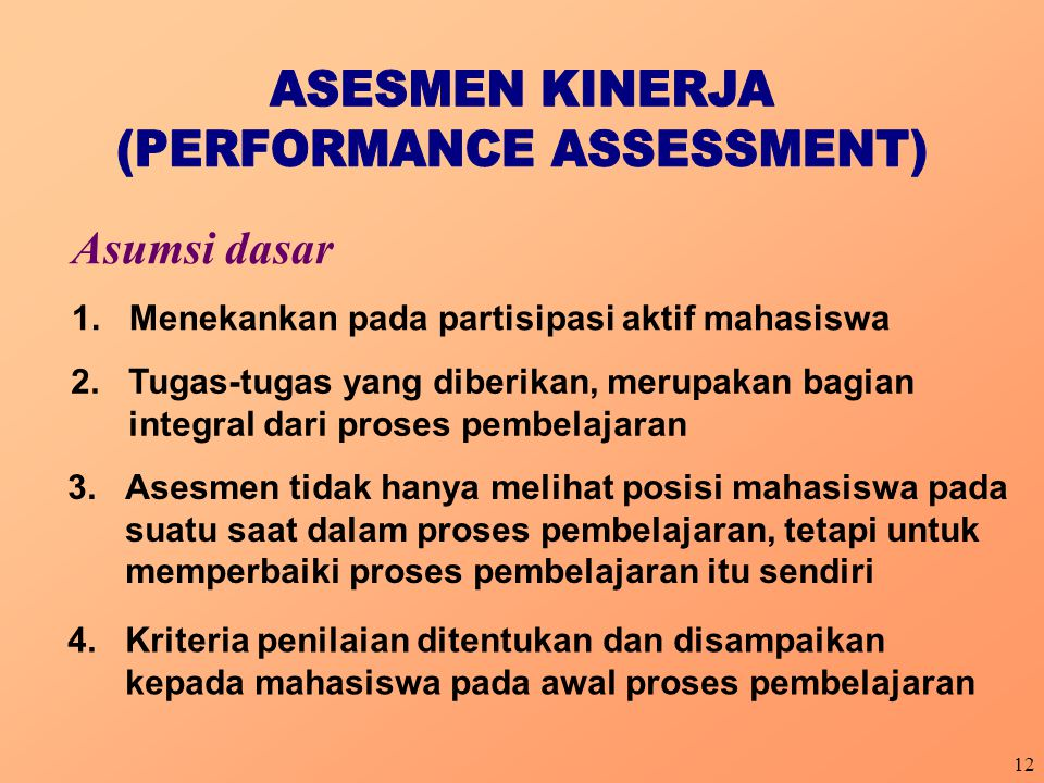 (PERFORMANCE ASSESSMENT)
