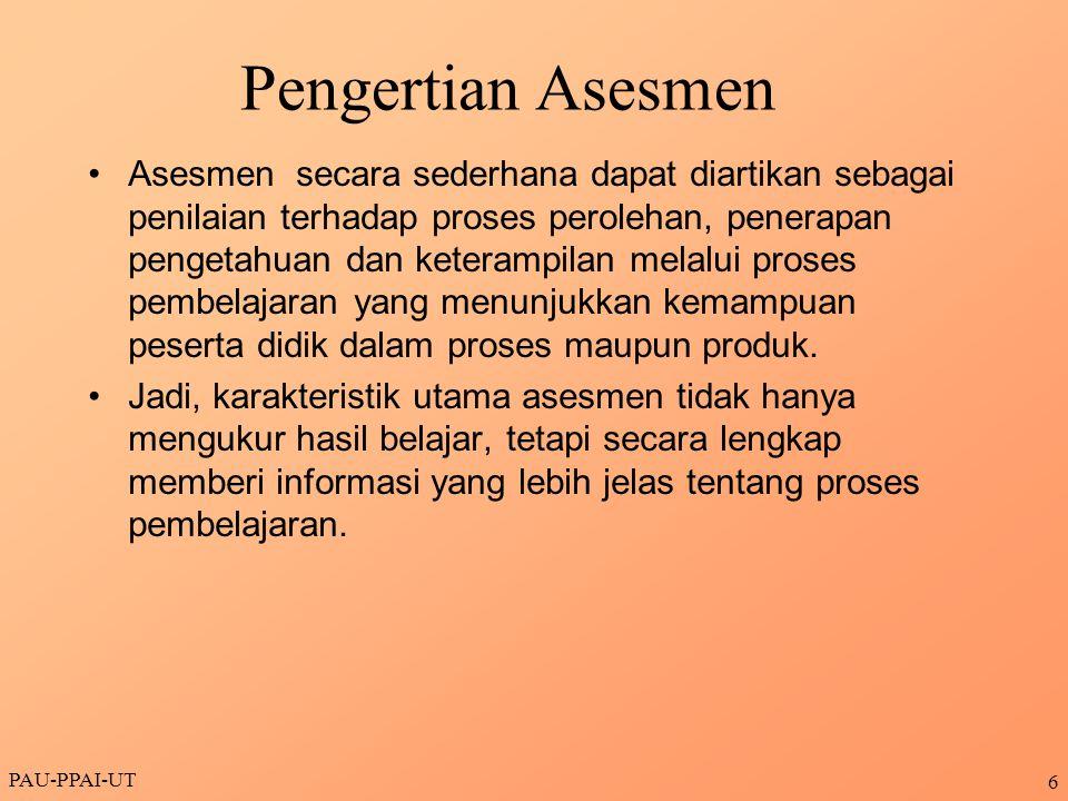 Pengertian Asesmen
