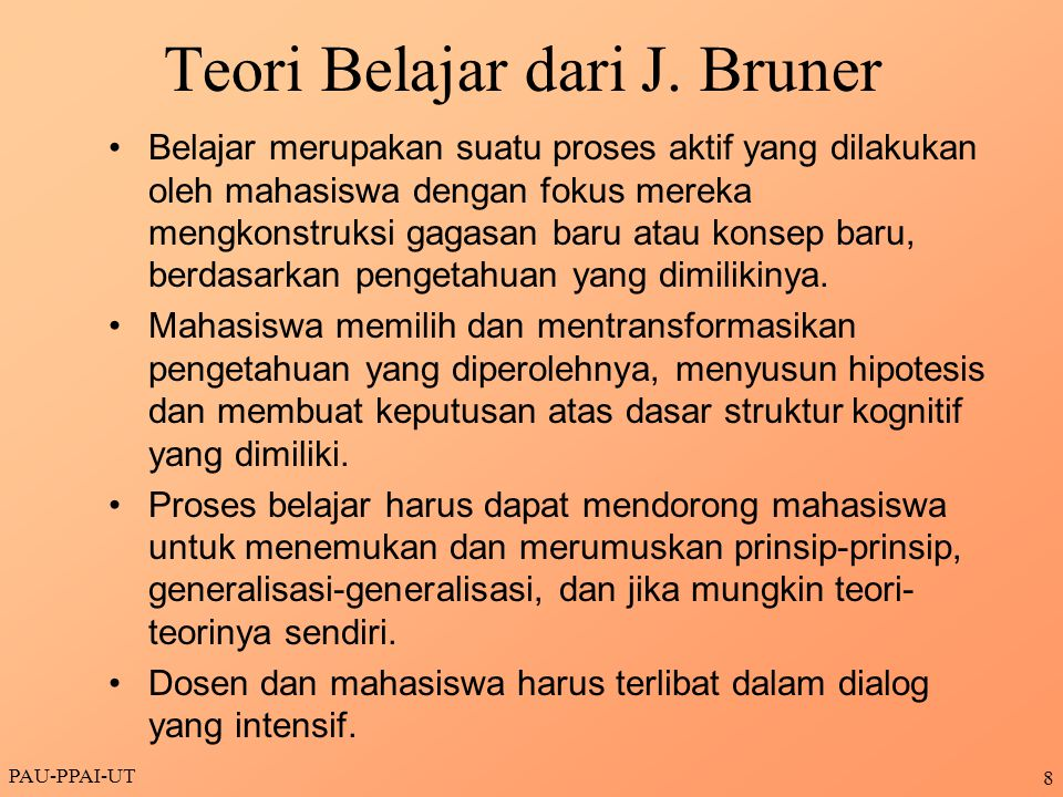 Teori Belajar dari J. Bruner