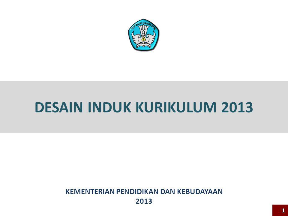 DESAIN INDUK KURIKULUM 2013 KEMENTERIAN PENDIDIKAN DAN KEBUDAYAAN