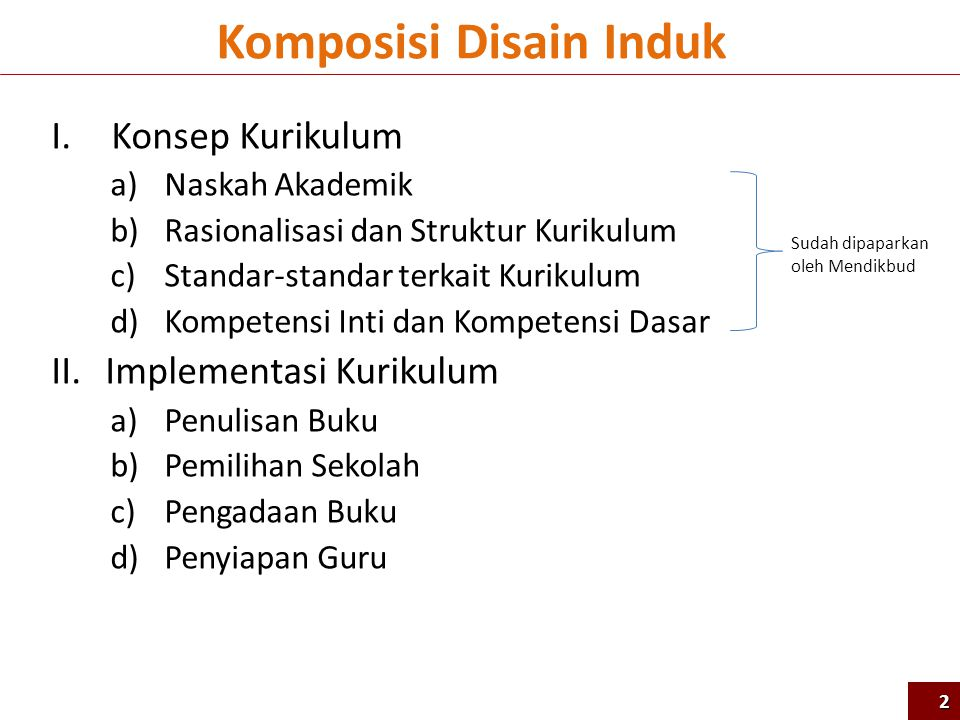 Komposisi Disain Induk