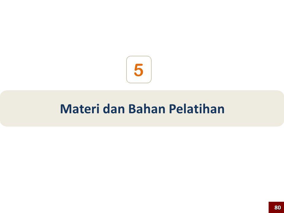 5 Materi dan Bahan Pelatihan 80