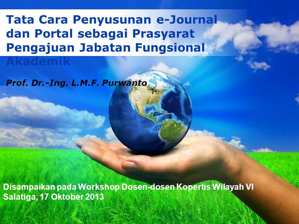 Tata Cara Penyusunan e-Journal dan Portal sebagai Prasyarat Pengajuan Jabatan Fungsional Akademik