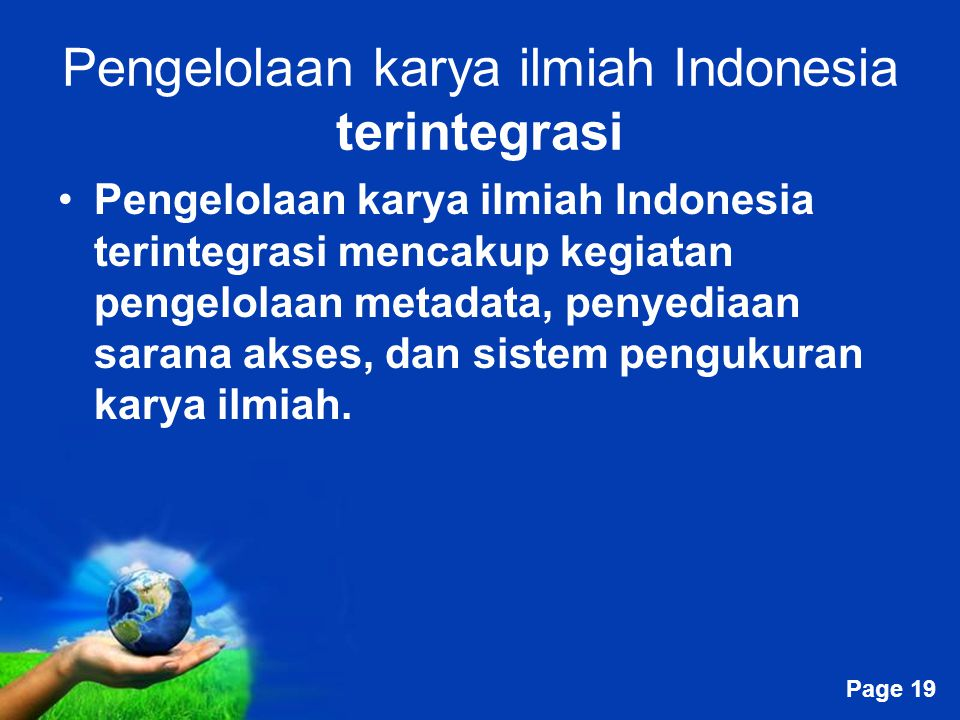 Pengelolaan karya ilmiah Indonesia terintegrasi