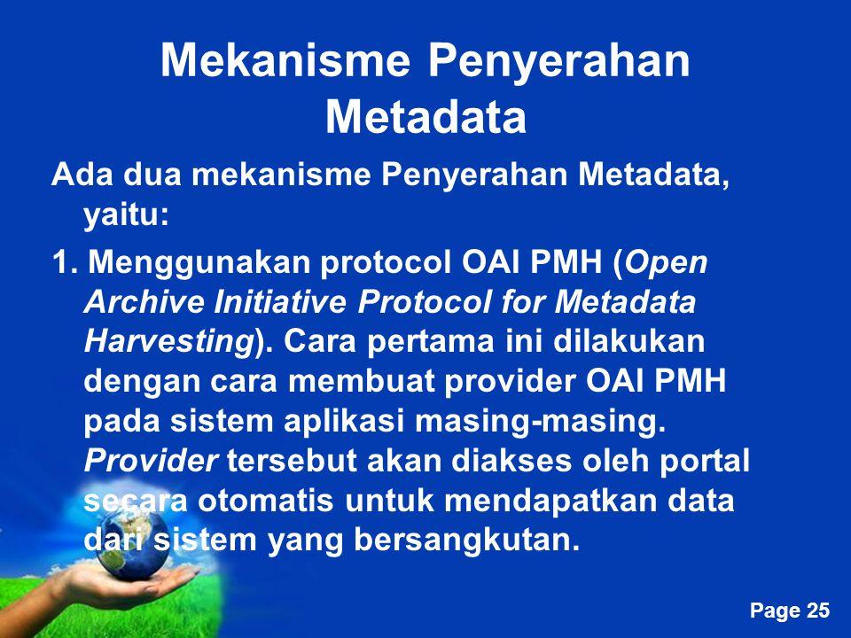 Mekanisme Penyerahan Metadata