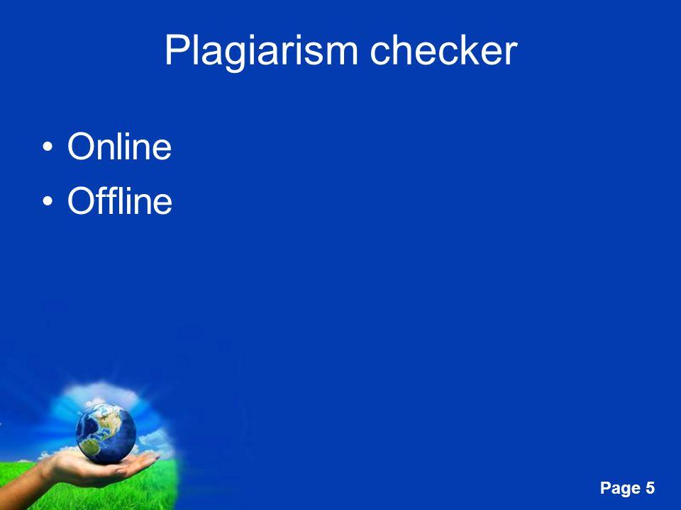 Plagiarism checker Online Offline