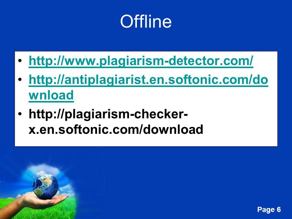 Offline http://www.plagiarism-detector.com/