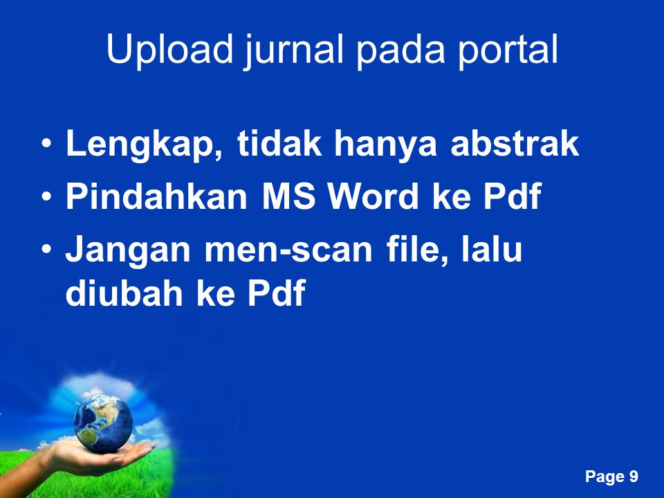 Upload jurnal pada portal