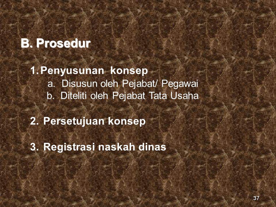 B. Prosedur Penyusunan konsep a. Disusun oleh Pejabat/ Pegawai