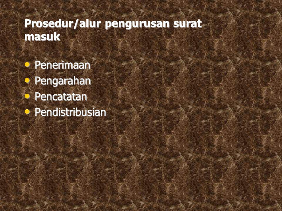 Prosedur/alur pengurusan surat masuk