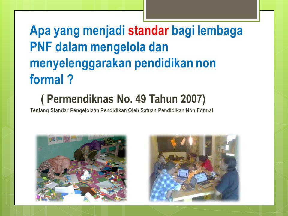 ( Permendiknas No. 49 Tahun 2007)