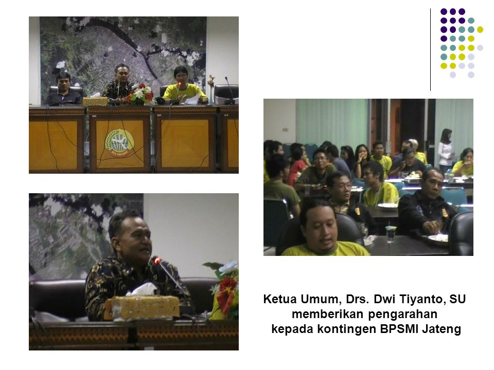Ketua Umum, Drs. Dwi Tiyanto, SU