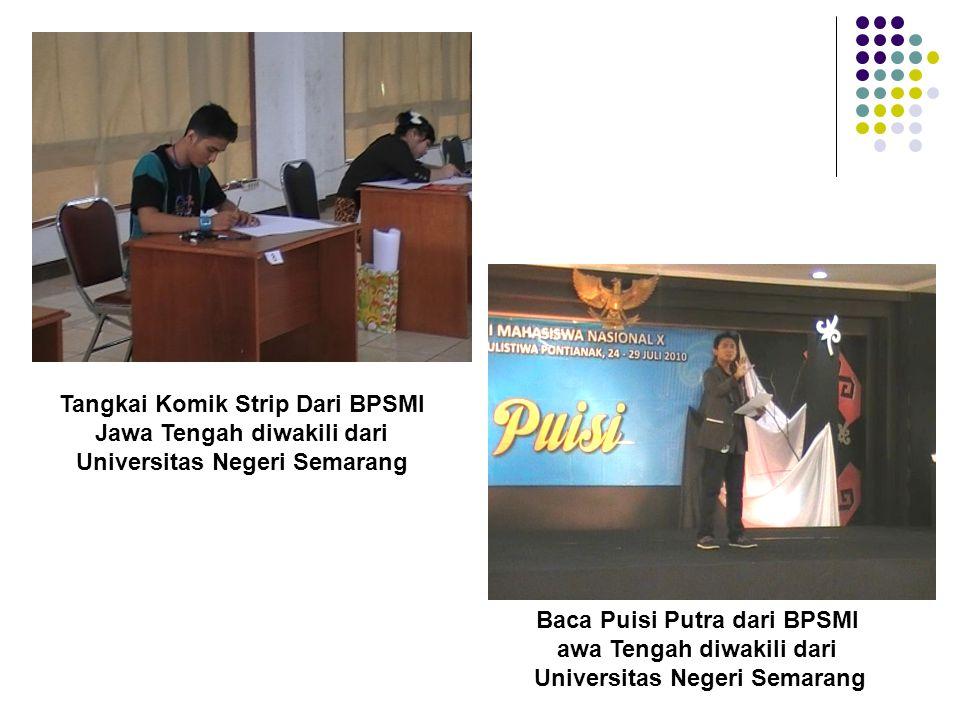 Tangkai Komik Strip Dari BPSMI Jawa Tengah diwakili dari