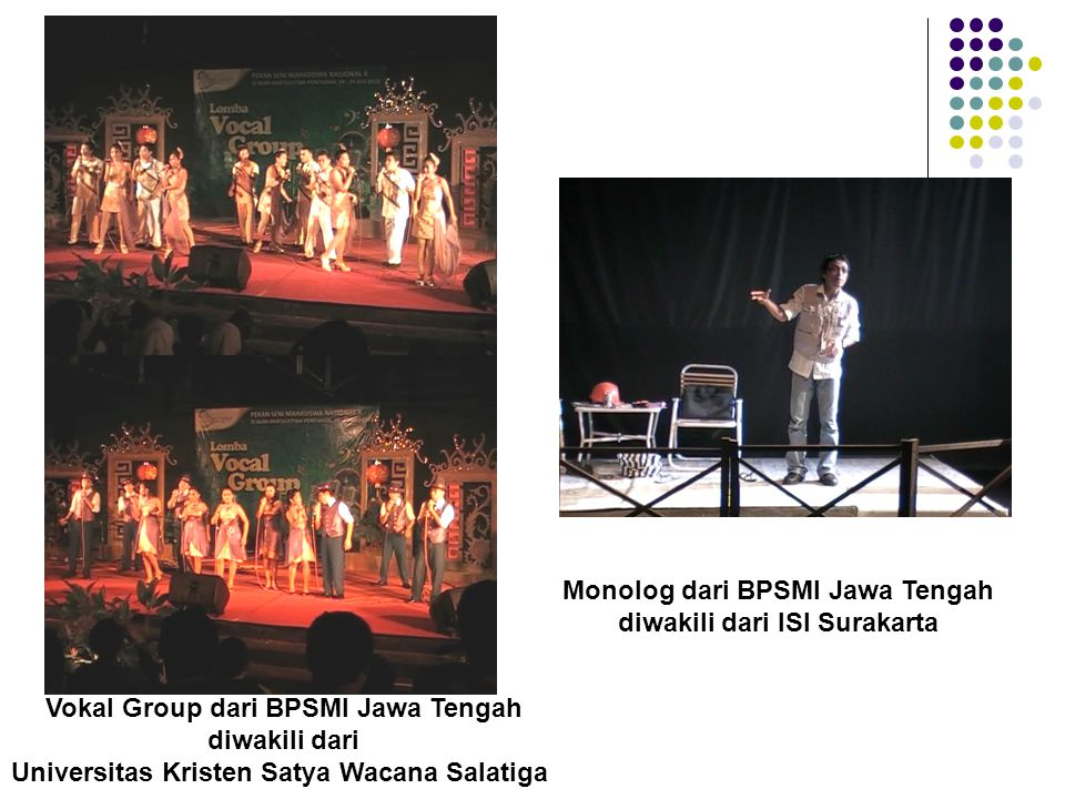 Monolog dari BPSMI Jawa Tengah diwakili dari ISI Surakarta