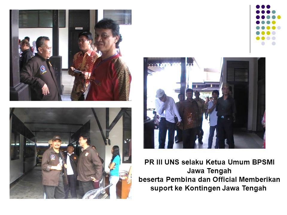 PR III UNS selaku Ketua Umum BPSMI Jawa Tengah